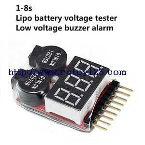 1-8s Lipo Akku voltage tester low voltage buzzer alarm