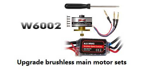 Upgrade brushless Des Hauptmotor package sets[MJX W6002]