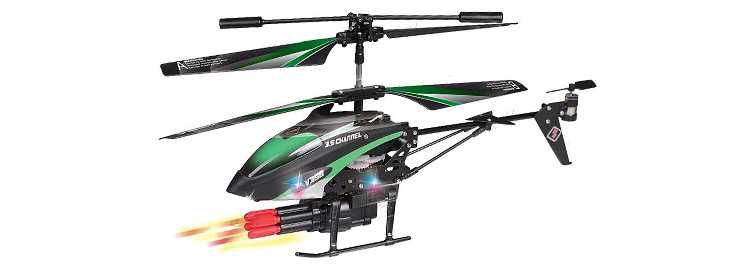 WLtoys WL V398 RC Helicopter(WLToys V398 Cool Missile Launching 3.5CH RC Remote Control Gyro Helicopter)